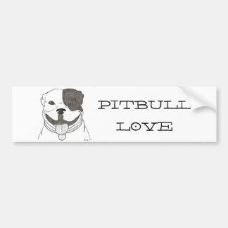 Pegatina para el parachoques del amor de Pitbull Pegatina Para Auto