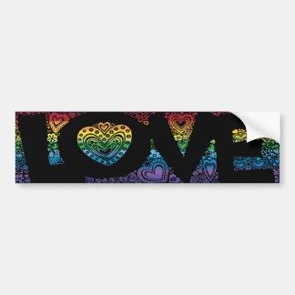 Pegatina para el parachoques del amor del arco iri pegatina para auto