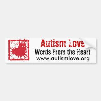 Pegatina para el parachoques del amor del autismo pegatina para auto