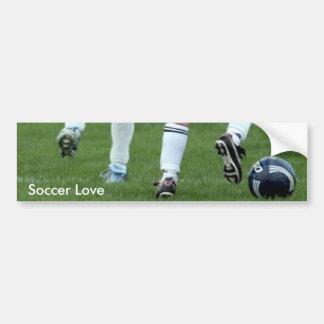 Pegatina para el parachoques del amor del fútbol ( etiqueta de parachoque