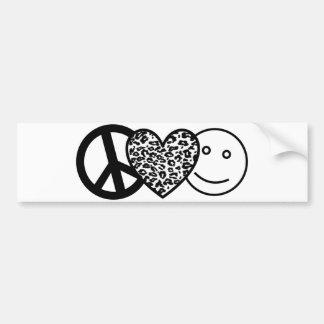 Pegatina para el parachoques del amor y de la feli etiqueta de parachoque