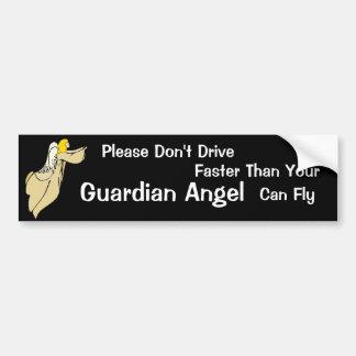 Pegatina para el parachoques del ángel de guarda pegatina para auto