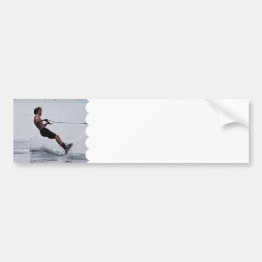 Pegatina para el parachoques del ángulo de Wakeboa Pegatina De Parachoque