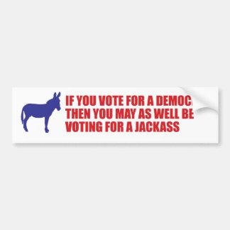 pegatina para el parachoques del anti-demócrata pegatina para auto
