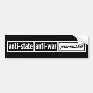 Pegatina para el parachoques del Anti-State Etiqueta De Parachoque