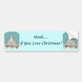 Pegatina para el parachoques del árbol de navidad  pegatina para auto
