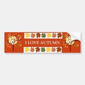 Pegatina para el parachoques del árbol del otoño pegatina para auto