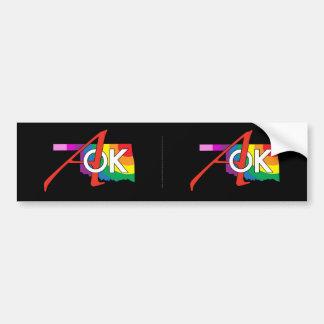 ¡Pegatina para el parachoques del arco iris AOK! Pegatina De Parachoque