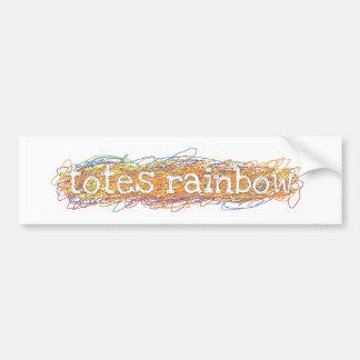 Pegatina para el parachoques del arco iris de los  pegatina para auto