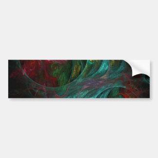 Pegatina para el parachoques del arte abstracto de etiqueta de parachoque
