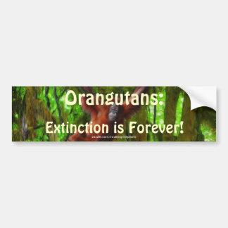 Pegatina para el parachoques del arte del orangutá pegatina de parachoque