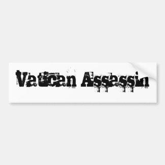 Pegatina para el parachoques del asesino de Vatica Pegatina Para Auto