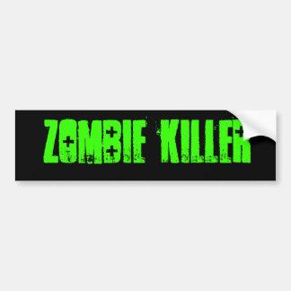 pegatina para el parachoques del asesino del zombi pegatina para auto