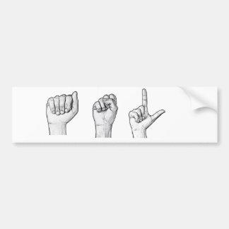 Pegatina para el parachoques del ASL Etiqueta De Parachoque