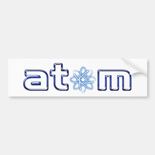 Pegatina para el parachoques del átomo (001) - pegatina de parachoque
