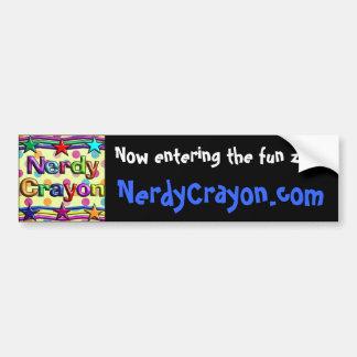 pegatina para el parachoques del azul de NerdyCray Pegatina Para Auto