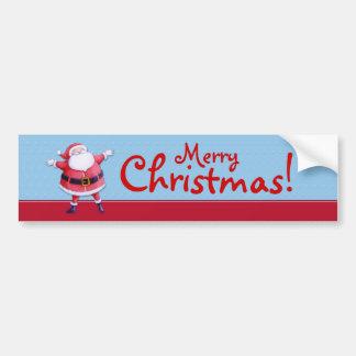 Pegatina para el parachoques del azul de Papá Noel Pegatina Para Auto