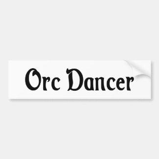 Pegatina para el parachoques del bailarín de Orc Pegatina De Parachoque