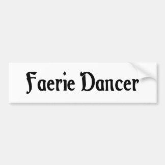 Pegatina para el parachoques del bailarín del Faer Pegatina De Parachoque