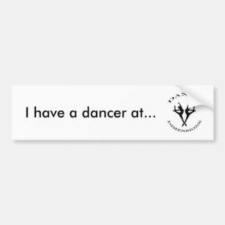 pegatina para el parachoques del bailarín pegatina para auto