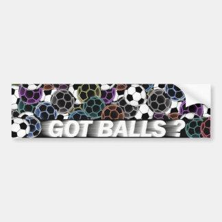 Pegatina para el parachoques del balón de fútbol etiqueta de parachoque