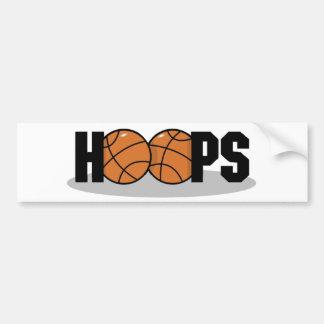 Pegatina para el parachoques del baloncesto de los pegatina para auto