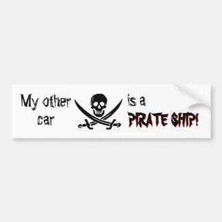 Pegatina para el parachoques del barco pirata pegatina para auto