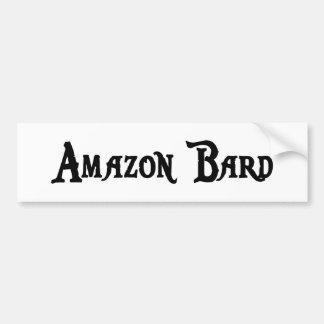 Pegatina para el parachoques del bardo del Amazona Pegatina De Parachoque