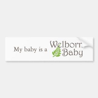 Pegatina para el parachoques del bebé de Welborn Pegatina Para Auto