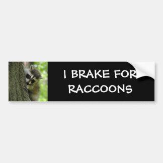 Pegatina para el parachoques del bebé del mapache pegatina para auto