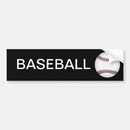 Pegatina para el parachoques del béisbol pegatina de parachoque