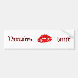 Pegatina para el parachoques del beso del vampiro etiqueta de parachoque