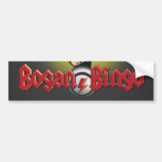 Pegatina para el parachoques del bingo de Bogan Pegatina Para Auto