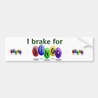 Pegatina para el parachoques del bingo pegatina para auto