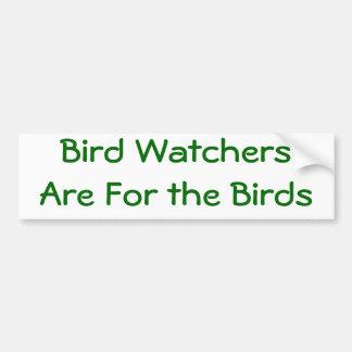 Pegatina para el parachoques del Birder Pegatina Para Auto