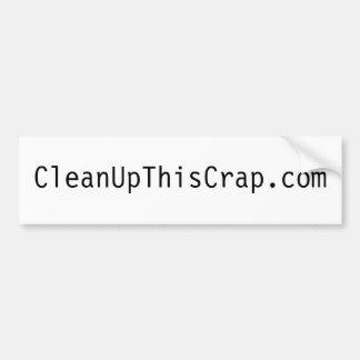 pegatina para el parachoques del blanco de CleanUp Pegatina Para Auto