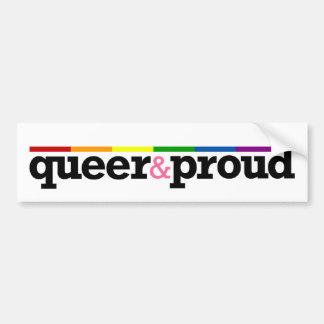 Pegatina para el parachoques del blanco de Queer&p Pegatina Para Auto
