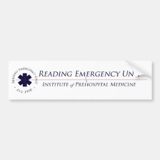 Pegatina para el parachoques del blanco de REU IPM Pegatina Para Auto