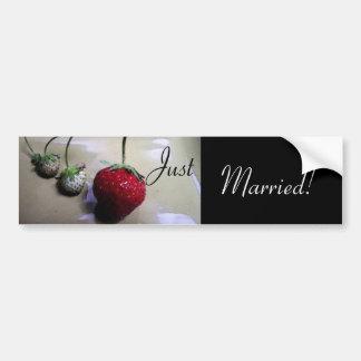 Pegatina para el parachoques del boda de la fresa  pegatina para auto