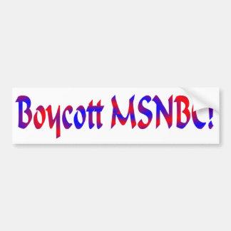 Pegatina para el parachoques del boicoteo MSNBC Pegatina Para Auto
