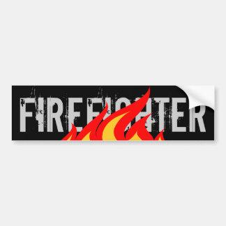 Pegatina para el parachoques del bombero pegatina de parachoque
