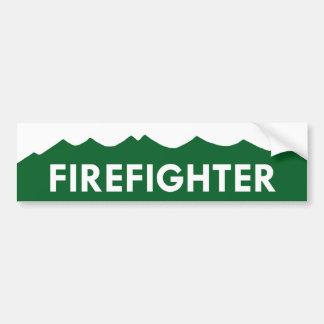 Pegatina para el parachoques del bombero de Colora Pegatina De Parachoque