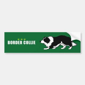 Pegatina para el parachoques del border collie pegatina para auto