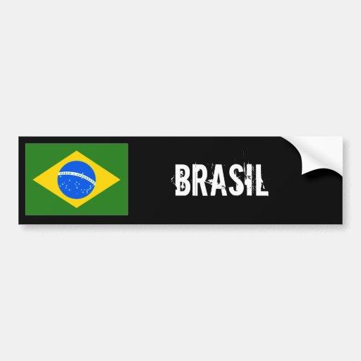 Pegatina para el parachoques del Brasil Pegatina De Parachoque
