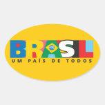 Pegatina para el parachoques del Brasil Um Pais de