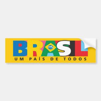 Pegatina para el parachoques del Brasil Um Pais de Pegatina Para Auto