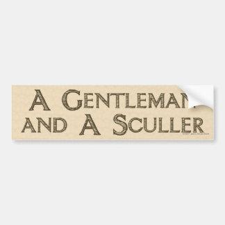 Pegatina para el parachoques del caballero y del S Etiqueta De Parachoque