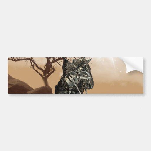 Pegatina para el parachoques del caballo de guerra pegatina de parachoque