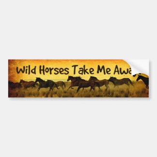Pegatina para el parachoques del caballo salvaje pegatina para coche