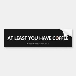 Pegatina para el parachoques del café pegatina para auto